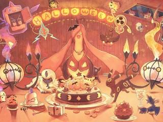 Собирать пазл Pokemon Halloween онлайн