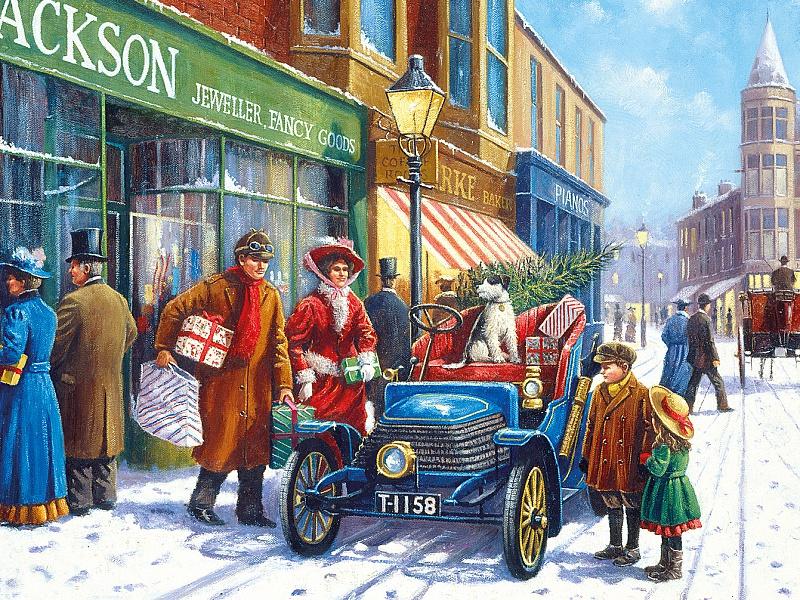 Пазл Собирать пазлы онлайн - Покупки к празднику
