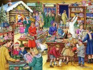 Собирать пазл Покупки к празднику онлайн