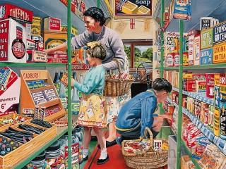 Собирать пазл Покупки с бабушкой онлайн