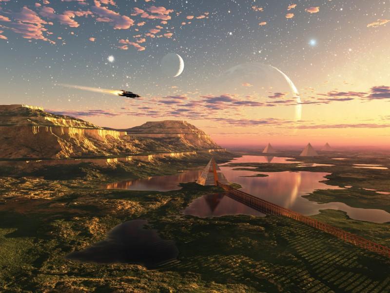 Пазл Собирать пазлы онлайн - Полет над планетой