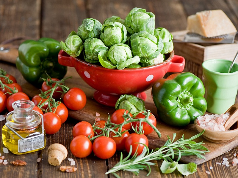 Пазл Собирать пазлы онлайн - Полезные овощи