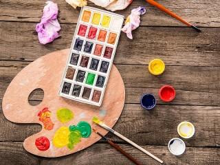 Собирать пазл Палитра и краски онлайн