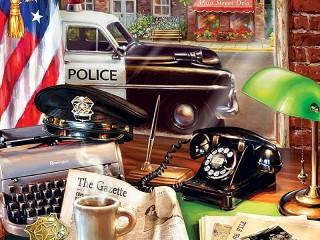 Собирать пазл Полицейский участок онлайн