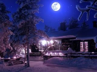 Собирать пазл Полная луна онлайн