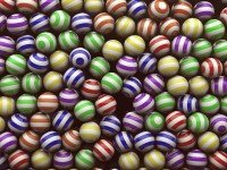 Собирать пазл Полосатые шарики онлайн