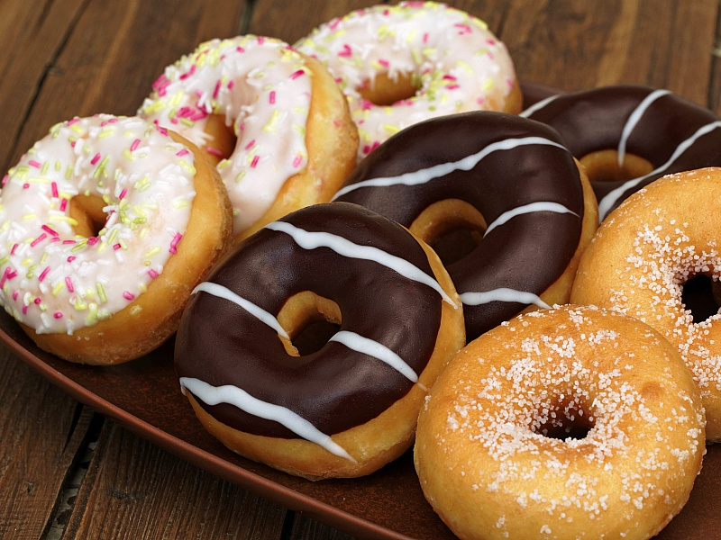 Пазл Собирать пазлы онлайн - Пончики