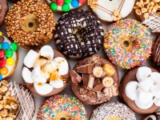 Собирать пазл Пончики в глазури онлайн