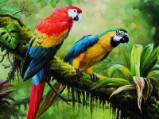 Собирать пазл Попугаи тропиков онлайн