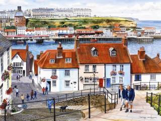 Собирать пазл Портовый город онлайн