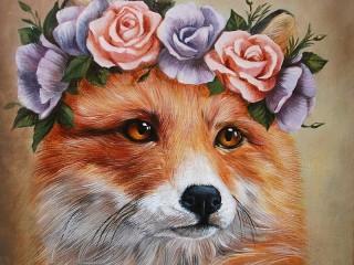 Собирать пазл Портрет лисы онлайн