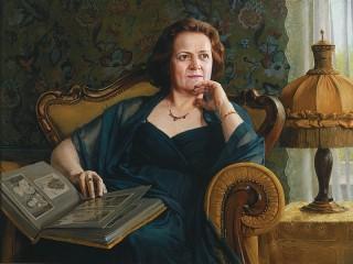 Собирать пазл Портрет женщины онлайн