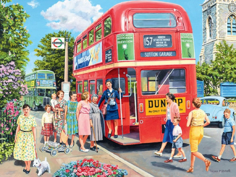 Пазл Собирать пазлы онлайн - Посадка в автобус