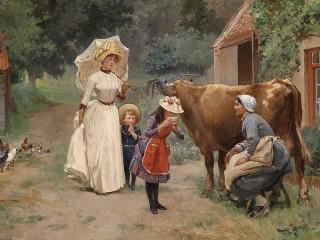 Собирать пазл Посещение фермы онлайн