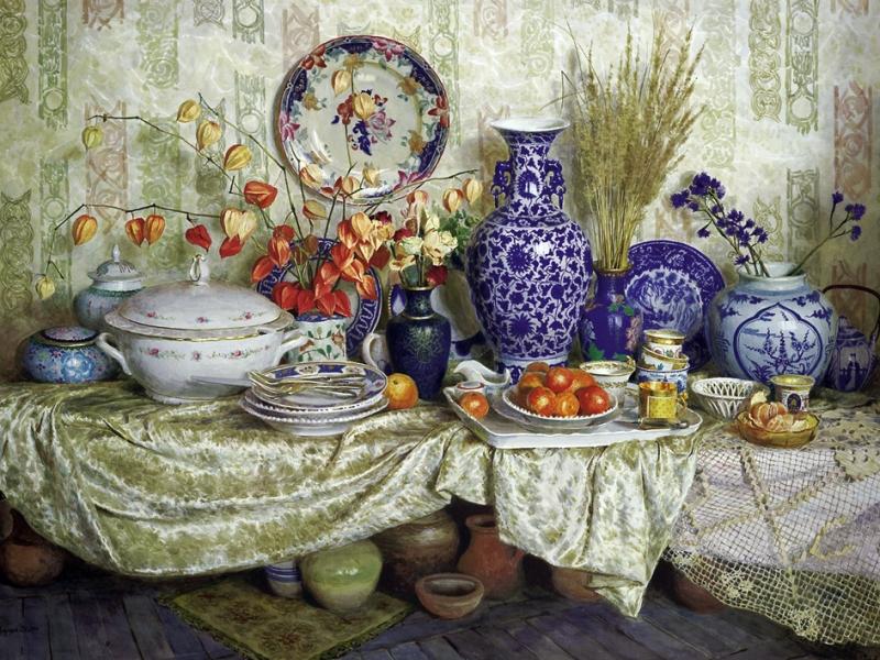 Пазл Собирать пазлы онлайн - Посуда и вазы