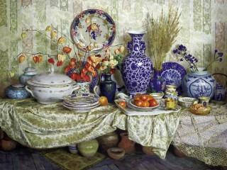 Собирать пазл Посуда и вазы онлайн