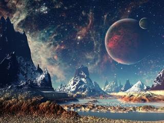 Собирать пазл Поверхность планеты онлайн