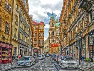 Собирать пазл Прага Чехия онлайн