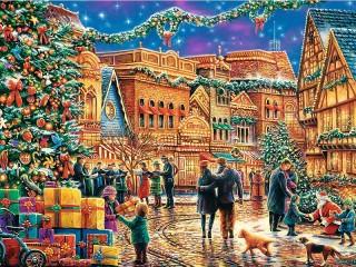 Собирать пазл Праздничная площадь онлайн