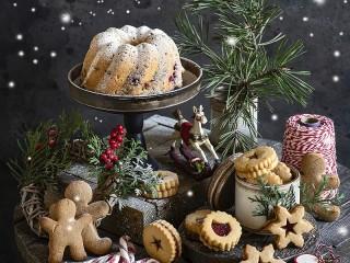 Собирать пазл Праздничная выпечка онлайн