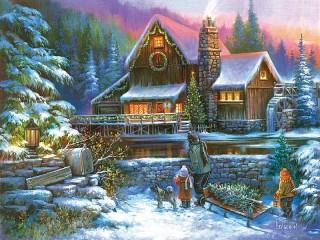 Собирать пазл Праздничные огни онлайн
