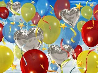 Собирать пазл Праздничные шарики онлайн