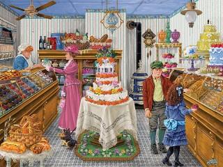 Собирать пазл Праздничный торт онлайн