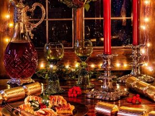 Собирать пазл Праздничный вечер онлайн