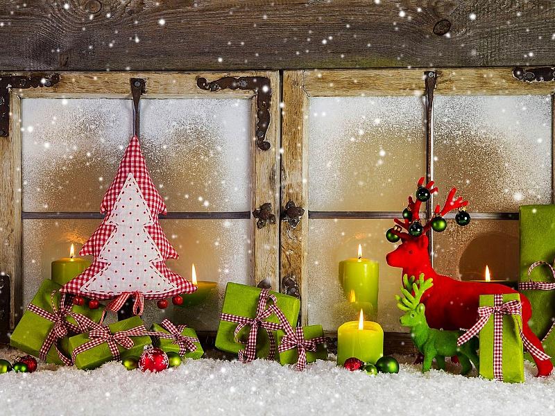 Пазл Собирать пазлы онлайн - Праздничное окно