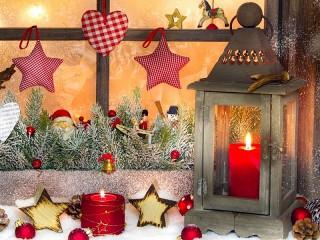 Собирать пазл Праздничное окно онлайн