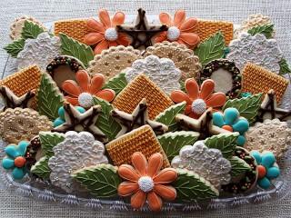 Собирать пазл Праздничное печенье онлайн
