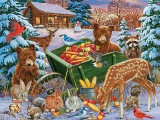 Собирать пазл Праздничное угощение онлайн