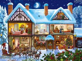 Собирать пазл Праздник в доме онлайн
