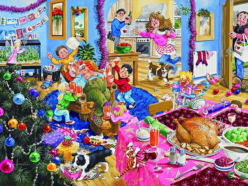 Пазл Собирать пазлы онлайн - Празднование Нового года