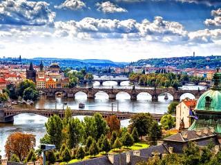 Собирать пазл Пражские мосты онлайн