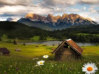 Собирать пазл Предгорье Альп онлайн