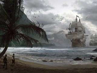 Собирать пазл Прибытие кораблей онлайн