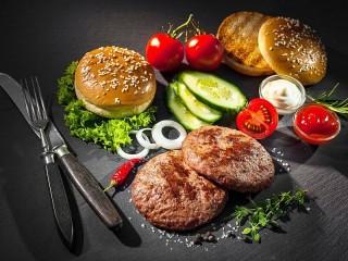 Собирать пазл Приготовление гамбургера онлайн