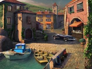 Собирать пазл Приморский городок онлайн