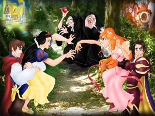 Собирать пазл Ссора принцесс онлайн