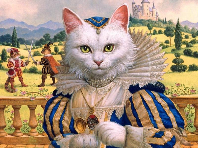 Пазл Собирать пазлы онлайн - Принцесса кошка