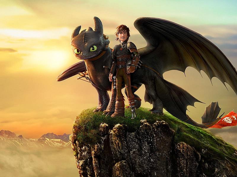 Пазл Собирать пазлы онлайн - Как приручить дракона