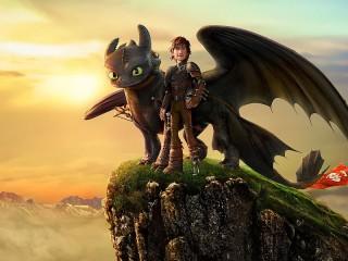 Собирать пазл Как приручить дракона онлайн