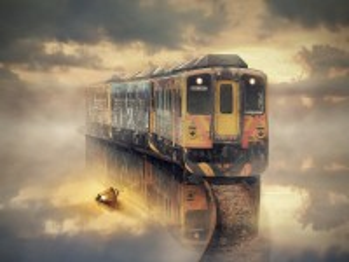 Собирать пазл Призрачный поезд онлайн