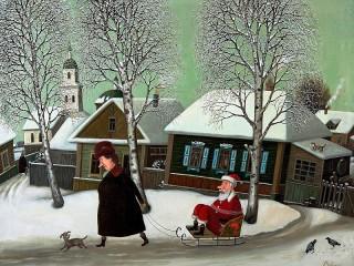 Собирать пазл Про Деда Мороза онлайн