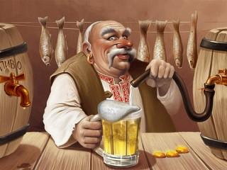 Собирать пазл Продавец пива онлайн