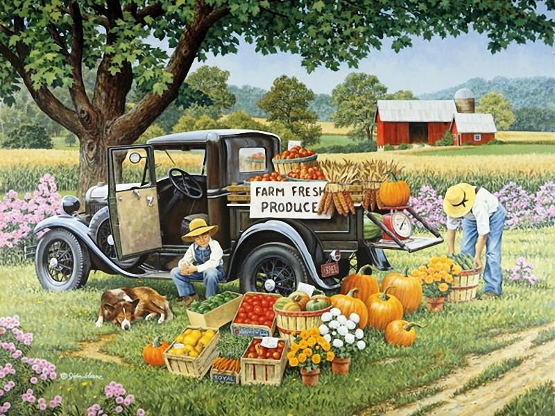 Пазл Собирать пазлы онлайн - Продукты с фермы