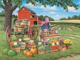 Собирать пазл Продукты с фермы онлайн