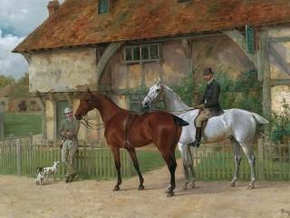 Собирать пазл Прогулка на лошадях онлайн