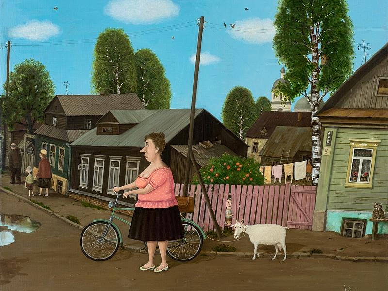 Пазл Собирать пазлы онлайн - Прогулка с козой